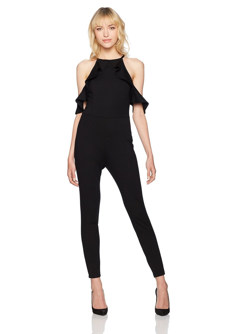 GUESS Women's Sleeveless Illissa Ruffle Jumpsuit