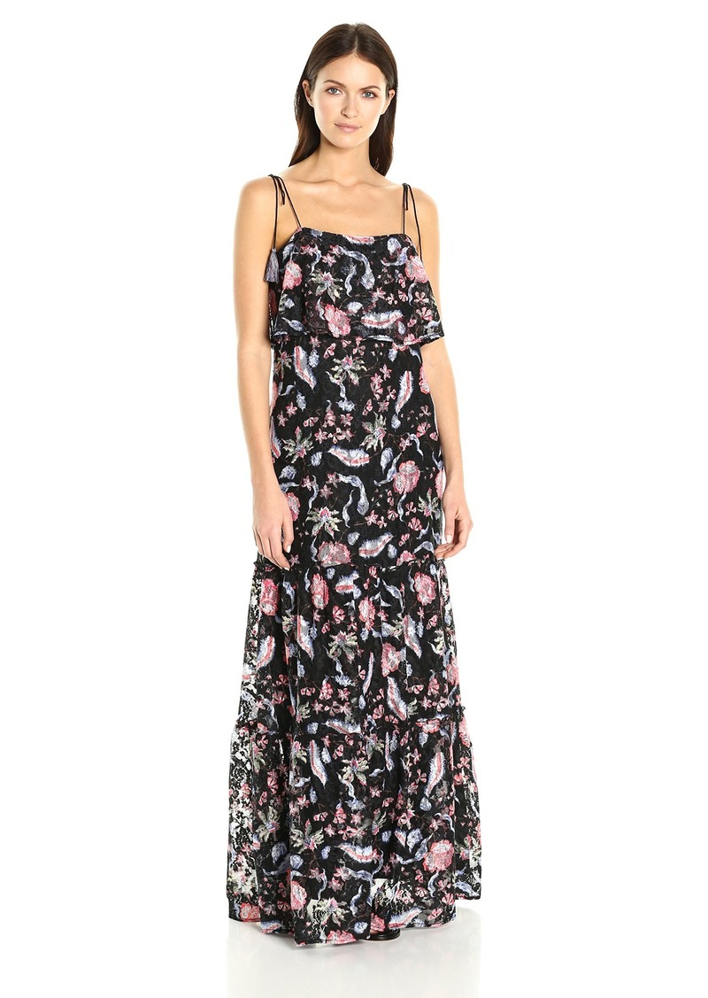 GUESS Women's Sleeveless Indie Lace Maxi Dress  L
