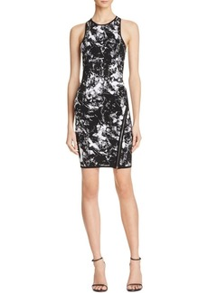 GUESS Women's Sleeveless Jacquard Zip Dress  S