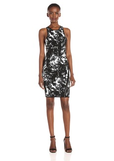 GUESS Women's Sleeveless Jacquard Zip Dress  S