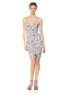 GUESS Women's Sleeveless Janiah Ruched Dress  L