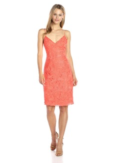 GUESS Women's Sleeveless Jillian Lace Dress Hot Coral/TCX