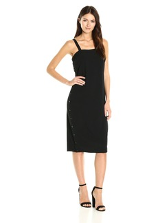 Guess Women's Sleeveless Kat Side Snap Dress  M
