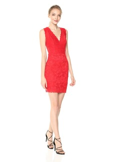 GUESS Women's Sleeveless Katrina LACE Dress  L