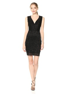 GUESS Women's Sleeveless Katrina Lace Dress  L