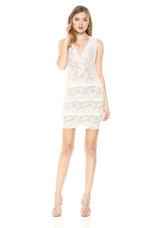GUESS Women's Sleeveless Katrina LACE Dress  XS