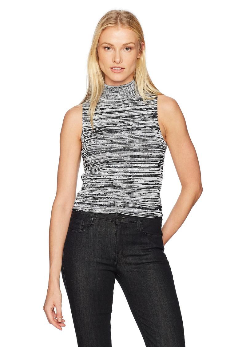 GUESS Women's Sleeveless Kaya Space Dye Crop Sweater  XL