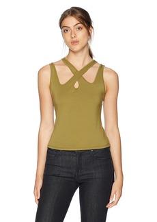 Guess Women's Sleeveless Koko Top Shirt -olive evening M