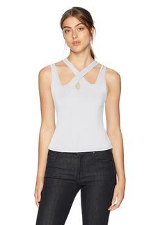 Guess Women's Sleeveless Koko Top Shirt -pure white S
