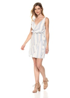 Guess Women's Sleeveless Laguna Dress Dress -bleached blue/multi XL