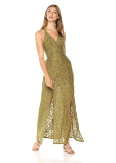 Guess Women's Sleeveless Leilani Maxi Dress Dress -olive evening M