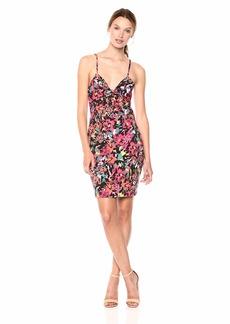 Guess Women's Sleeveless Lucid Jungle Dress Dress -lucid jungle black print L