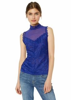GUESS Women's Sleeveless Mansfield Top Blue iris M
