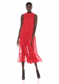 GUESS Women's Sleeveless Marisol Maxi Dress Sultry red L
