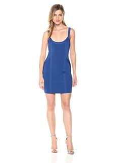 Guess Women's Sleeveless Mirage Body Mapped Dress Dress -blue soul M