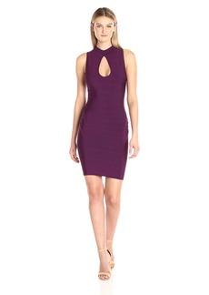 GUESS Women's Sleeveless Mirage Lattice Dress  L