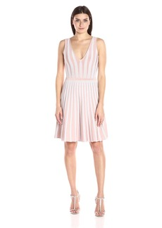 GUESS Women's Sleeveless Mirage Linear Ottoman Dress  M R