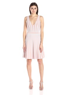 Guess Women's Sleeveless Mirage Linear Ottoman Dress  XS R