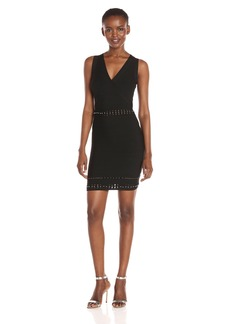 Guess Women's Sleeveless Mirage Metal Effects Dress  M