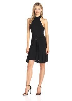 GUESS Women's Sleeveless Mock Neck Ariel Dress Jet Black A XL