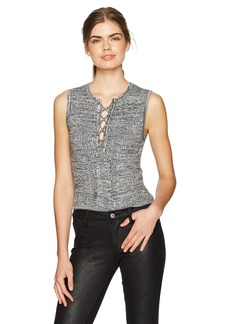 Guess Women's Sleeveless Morgan Lace up Sweater