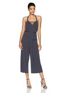 GUESS Women's Sleeveless Piper Halter Jumpsuit  S