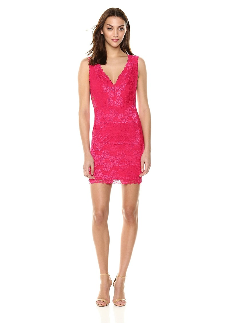 GUESS Women's Sleeveless Primrose Lace Galloon Dress  L