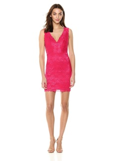 GUESS Women's Sleeveless Primrose Lace Galloon Dress  M