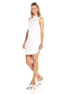 Guess Women's Sleeveless Ryleigh Shirt Dress