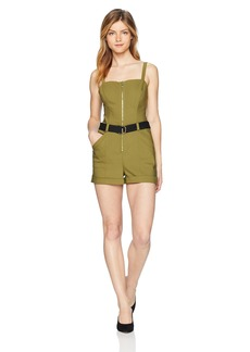 Guess Women's Sleeveless Sage Romper Pants -olive evening