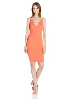 GUESS Women's Sleeveless Salina Scuba Dress Hot Coral/TCX XL