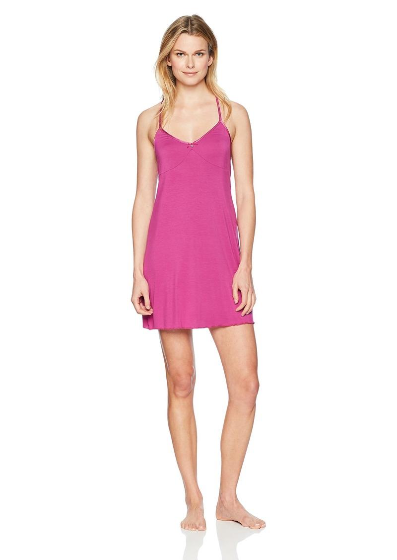GUESS Women's Sleeveless Satin Trim Night Dress  XL