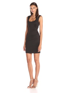 GUESS Women's Sleeveless Scuba Dress with Double Strap Detail