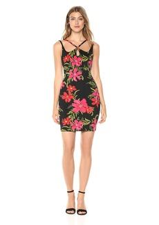 Guess Women's Sleeveless Serena Dress Dress -coastal bloom black print XS