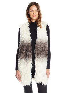 GUESS Women's Sleeveless Shiah Faux Fur Vest  XS