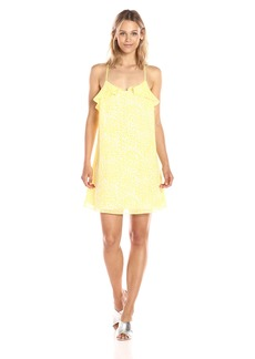 GUESS Women's Sleeveless Sinclair Ruffle Dress