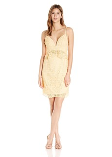 GUESS Women's Sleeveless Solstice Lace Dress Tropical Peach