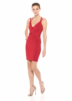 GUESS Women's Sleeveless Strappy Lurex Mirage Dress Sultry red/Multi L