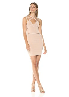 Guess Women's Sleeveless Strappy Mirage Dress Dress -champagne multi XL