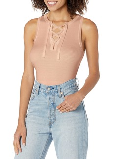 GUESS Women's Sleeveless Sydney Lace-Up Sweater