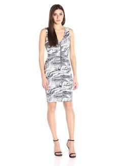 Guess Women's Sleeveless Tetiana Zipped Dress  M R