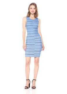 Guess Women's Sleeveless Wren Plaited Stripe Dress Surf The Web Multi L