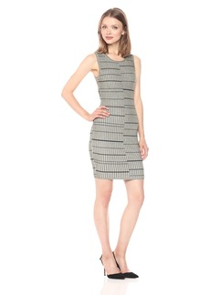 GUESS Women's Sleeveless Wren Plaited Stripe Dress  M