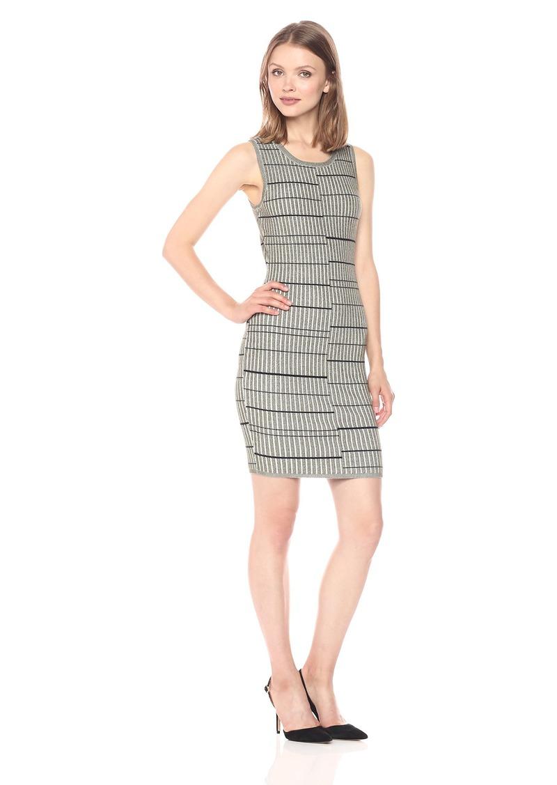 GUESS Women's Sleeveless Wren Plaited Stripe Dress  S