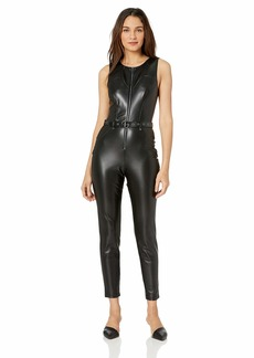 GUESS Women's Sleeveless Zip Front Sandra Jumpsuit