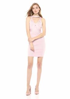 GUESS Women's Sleevless Mirage Criss Cross Cage Dress  S