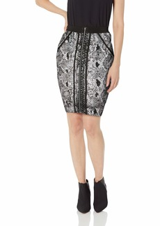 GUESS Women's Snake Foil Mirage Skirt  L