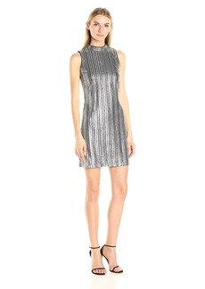 GUESS Women's Striped Sequin Dress