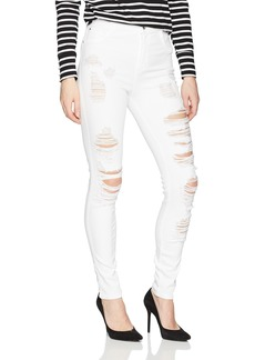 Guess Women's Super High Rise Jean with Destroy