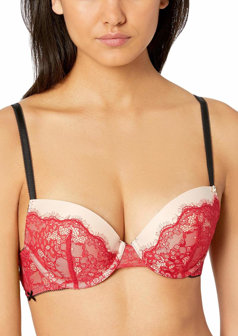 GUESS Women's Sweet Lace Push Up Bra Rockgirl red